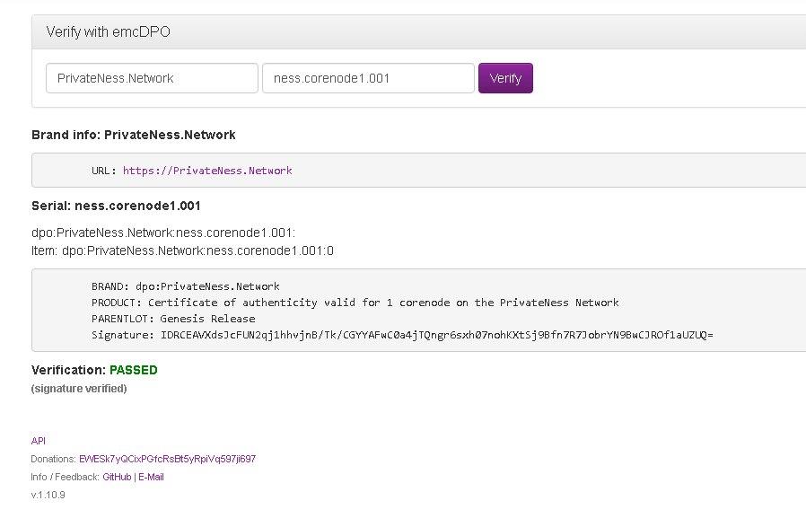 PrivateNess Network - NESS - CX Fiber Next Generation Blockchain 3.0